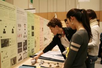 水野研究室の展示の様子