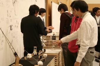 山中研究室の展示の様子